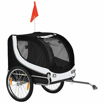 PawHut Pet Stroller Dog Jogger Folding Bike Cargo Trailer Carrier Bicycle Black
