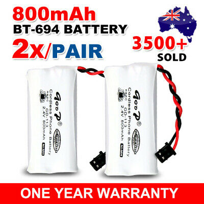 2x NEW 800mAh 2.4V Cordless Telephone Battery For Uniden BT-694 BT-694S NI-MH