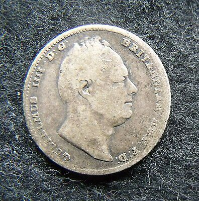 1834 Sixpence William IIII .925 Silver British Penny 6d Coin