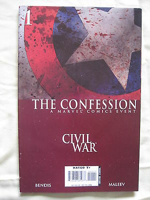 CIVIL WAR : The CONFESSION. GREAT ONE SHOT by BENDIS & MALEEV. MARVEL.2007