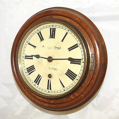 Antique MORATH BROS LIVERPOOL 7.5 inch Dial Oak Wall Clock : W & H Movement