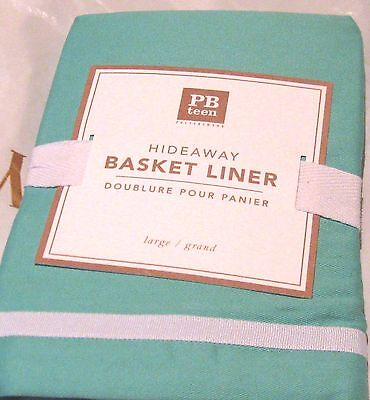 "Pottery Barn Hideaway Basket Liner Large 12.5"" wide x 18"" deep x 11.5"" Pool  NWT"