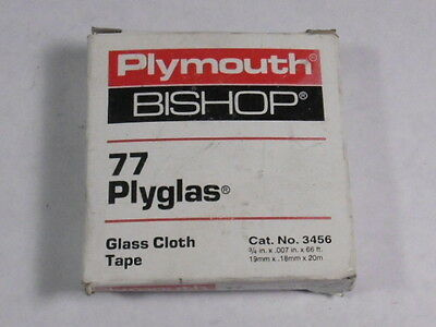 Plymouth Bishop 3456 77 Plyglas Glass Cloth Tape ! NEW !