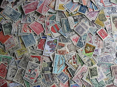 Hoard breakup 400 mostly different CZECHOSLOVAKIA Duplicates & mixed condition