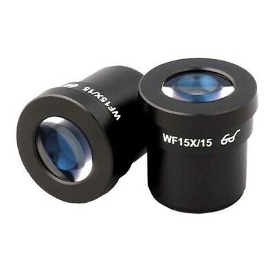 AmScope 15X Super Wide Field Microscope Eyepieces 30mm