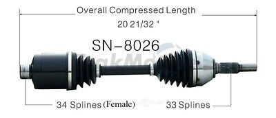 CV Axle Shaft-New Front-Left/Right SurTrack SN-8026