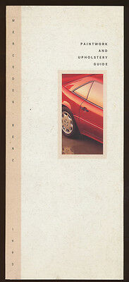 """Mercedes--Benz 1993 Paintword and Upholstery Guide, folds out to 8x14"""""""