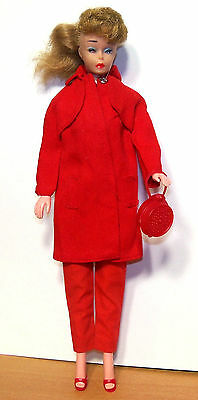 Lovely 1960s Ponytail Barbie Clone Valentine Polly in Genuine Barbie Clothing