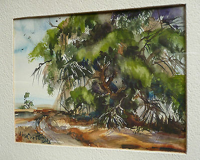 Vina Cross, Rare Early California Calif Ca Listed Old Landscape Plein Air Signed