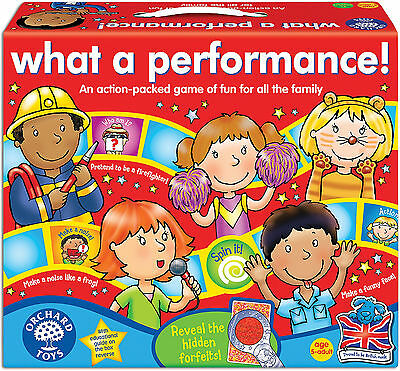 Orchard Toys WHAT A PERFORMANCE Kids/Children's Acting And Imagination Game BN