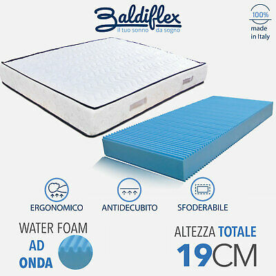 Materasso Mia Confort H19 Poliuretano Waterfoam Ortopedico Antiacaro Anallergico