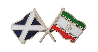Iran Flag & Scotland Flag Friendship Courtesy Pin Badge - T1231