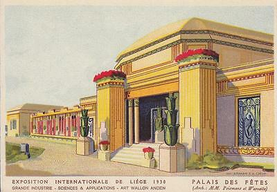 A9543) Exposition Internationale De Liege 1930, Palais Des Fetes.
