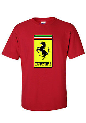 Ferrari Classic Horse  ..  T Shirt  ....  Many Colours  Unisex & Ladies F1