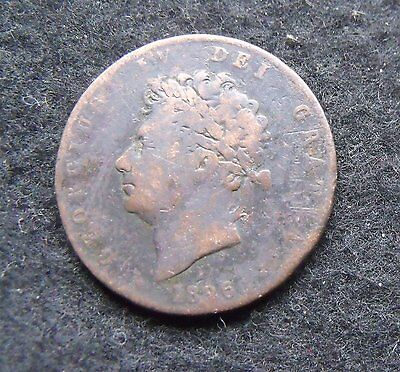 1826 British George IV copper Half penny coin see pictures worn space filler