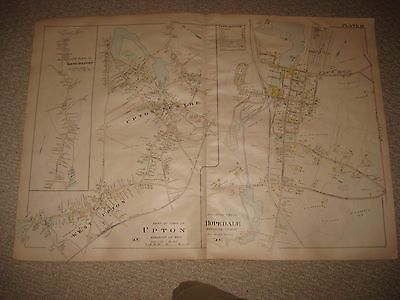 Antique 1898 Upton Milford Hopedale Worcester County Massachusetts Handcolor Map