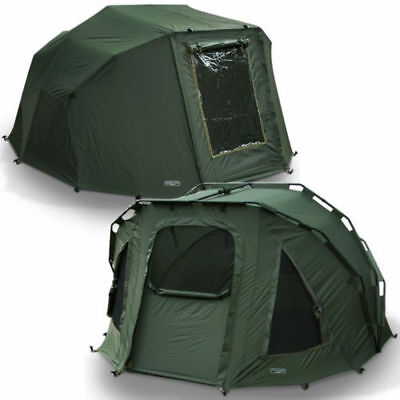 NGT 2 Man Fortress Fishing Bivvy With Over Wrap Pram Style Carp Fishing