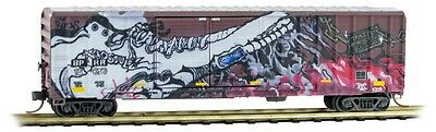 Micro-Trains MTL N-Scale 50ft DD Box Car Buffalo & Pittsburgh Weathered/Graffiti