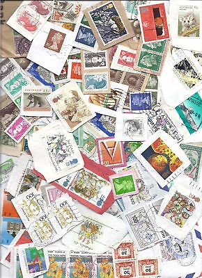 Worldwide Stamp Lot on Paper Mixture 8+ ounces Kiloware - Too many to count!