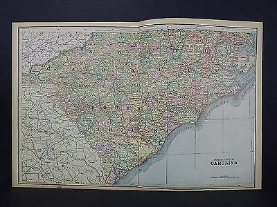 Antique Map 1897, M5#24 States of North & South Carolina.