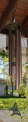 "Butterfly Windchimes XL 48"" Aluminum Tubular Wind Chime Bronze"