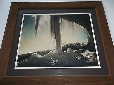 Antique Historic Painting-Hanging Rock-Madison (In)- Chas R. Monroe -1936 -