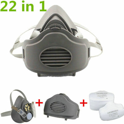 22 pcs suit For 3M 3200 Dust Gas Mask N95 Filter Painting Spraying Respirator