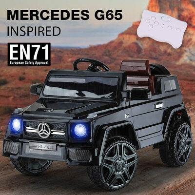 Kids Electric Ride on Car Licensed G65 AMG 12v Battery Toy Black