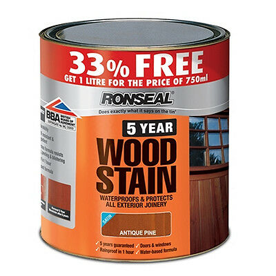 Ronseal 5 Year Woodstain Natural Oak 750ml