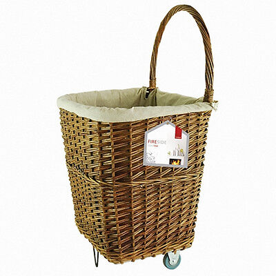 Deville Nat Wicker Firelog Cart Large
