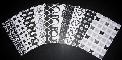 "20 Stunning *BLACK & WHITE* Scrapbooking/Cardmaking Papers 15cm x 10cm (6"" x 4"")"