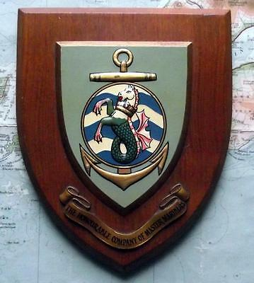 OLD Merchant Navy  SOCIETY OF MASTER MARINERS Ship Crest Shield Plaque