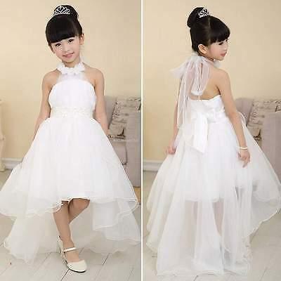Flower Girl Princess Pageant Wedding Birthday Party Formal Communion Tulle Dress