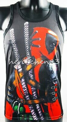246125f36ee5f New Sleeveless Tank Top X-Force Deadpool With Sword TOMMY DOOYAO Shirt Men  Vests