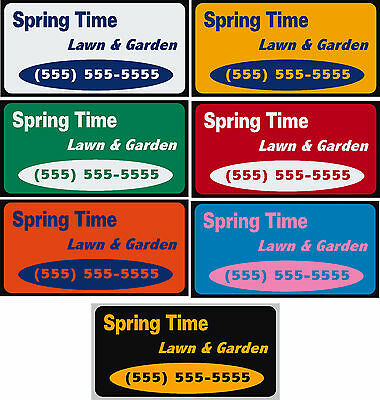 """12"""" x 24"""" Custom Car Magnets Magnetic Auto Car Truck Signs"""