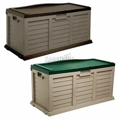 Starplast Outdoor Garden Storage Utility Chest Cushion Box Case 390L Sit-On Lid
