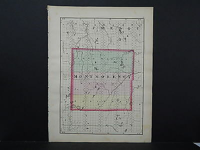 Michigan Map 1873 Double Sided, Counties of Montmorency or Otsego J19#82