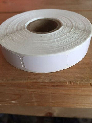 "1.25"" x .625"" WHITE BLANK MERCHANDISE LABELS 1000 PER ROLL STICKER"