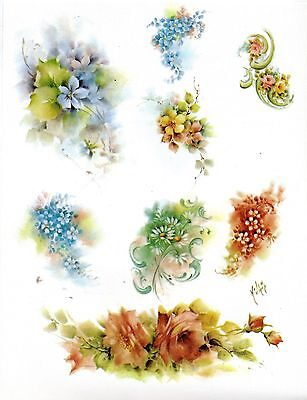 #45 Misc. Floral Patterns China Painting Study by Helen Humes 1975