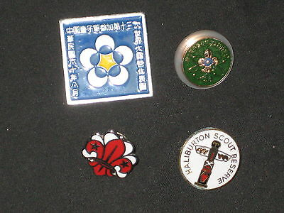 Haliburton Scout Reserve and 3 Other International Scout Pins   c31