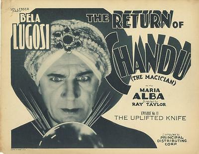 """the Return Of Chandu""-Original Title  Lobby Card-Chap. 11-Bela Lugosi-Serial"