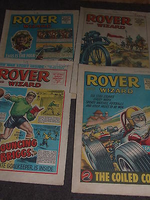 4 x ROVER and WIZARD 1967 Comics