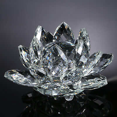 "Neewer 4""  Clear Crystal Glass Lotus Flower for Wedding Home Office Decoration"