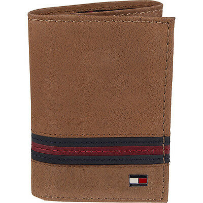 Tommy Hilfiger Accessories Yale Trifold Wallet - Tan Men's Wallet NEW