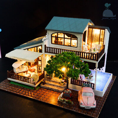 DIY Handcraft Miniature Wooden Dolls House My Summer Holiday House in London