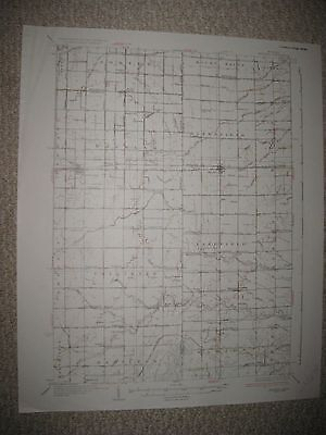 Antique '37 Merrill Breckenridge Gratiot Saginaw County Michigan Topographic Map