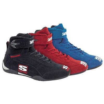 Simpson Adrenaline Racing/Driving Shoes Red/Blue/Black