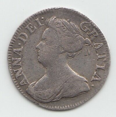 1709 Silver Threepence 3d - ANNE