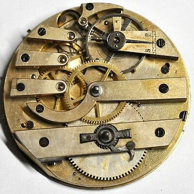 Wind Key Pocket Watch Movement For Parts/repairs #w472