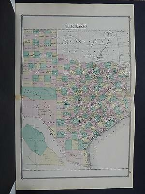 State of Texas, 1881 Map